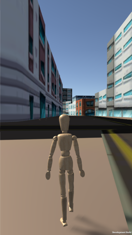 User view of environment with avatar