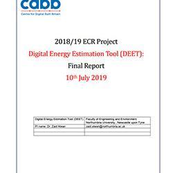 Read more at: Publication: Final Report - Digital Energy Estimation Tool (DEET)