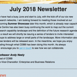 CDBB Newsletter - July 2018