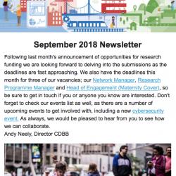 CDBB September 2018 Newsletter