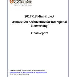 Read more at: Publication: Final Report - Feasibility of an Operating System for Interspatial Networking in a Built Environment