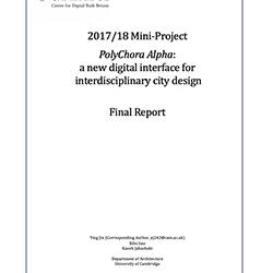 Read more at: Publication: Final Report - PolyChora Alpha: a new digital interface for interdisciplinary city design