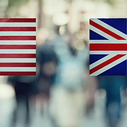 USA and UK Flags image