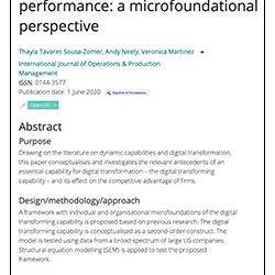 Read more at: Publication: Digital transforming capability and performance: a microfoundational perspective