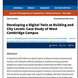 Read more at: Publication: Developing a Digital Twin at Building and City Levels: Case Study of West Cambridge Campus
