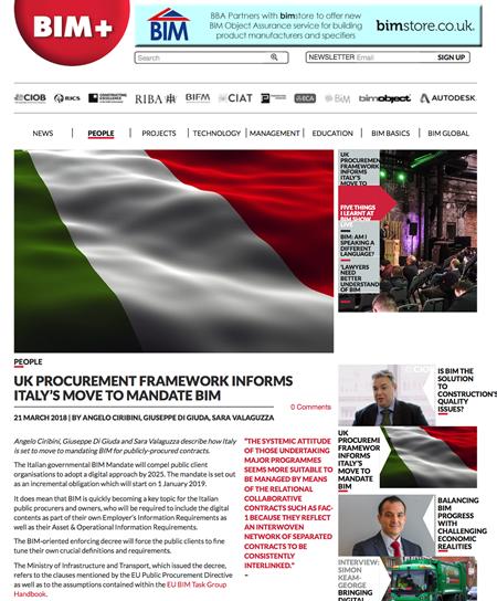 Italy looks to UK BIM Programme to Influence its BIM Mandate