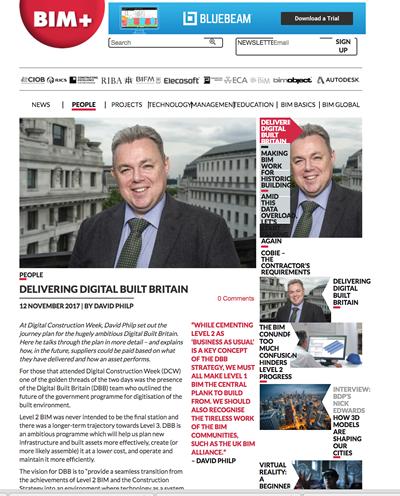 Blog on Delivering Digital Built Britain