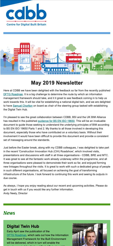 CDBB May 2019 Newsletter